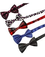 DBF01 Multi-color More Choice Available Great Fashion Bow Ties Set 5in1 By Dan Smith