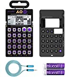 Teenage Engineering PO-20 Arcade Pocket Operator, Sounds, Patterns & Effects Synthesizer & Sequencer Bundle with CA-20 Silicone Case, Blucoil 6-FT Headphone Extension Cable (3.5mm) & 2 AAA Batteries
