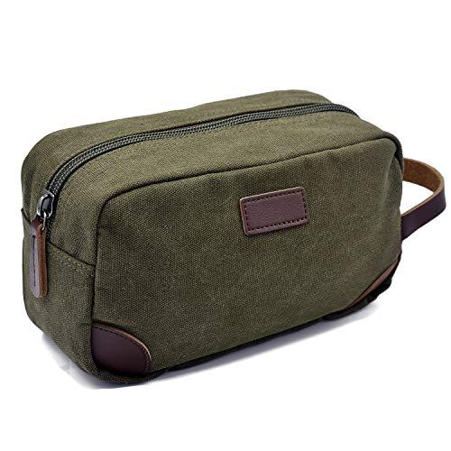 AMJ Travel Toiletry Bag for Men Women Travel Dopp Kit Shaving Bag Toiletry Organizer, Green