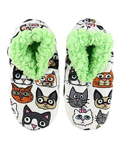 House Womens Fuzzy Fuzzy Plush Soft Slippers Feet Slippers by Feet Ladies Cattitude LazyOne Fuzzy qBwqz8aC