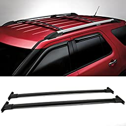11 12 13 14 15 Ford Explorer Roof Rack Cross Bar Black 2PC