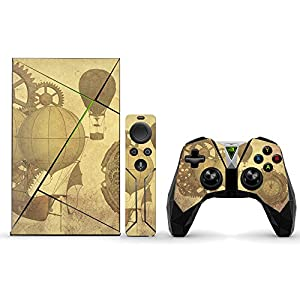 MightySkins Skin Compatible with NVIDIA Shield TV (2017) wrap Cover Sticker Skins Steam Punk Paper