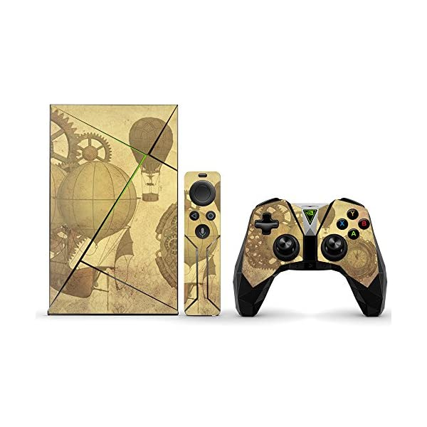 MightySkins Skin Compatible with NVIDIA Shield TV (2017) wrap Cover Sticker Skins Steam Punk Paper 3