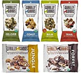 Gorilly Goods Paleo-Organic-Raw-Vegan Trail Mix Individual Snack Packs – VARIETY PACK: Hillside, Coast, Baja, Trail, Jungle & Forest (6 Count – 1 Pack of Each Flavor)