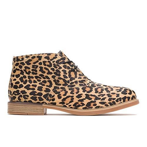 Hush Puppies Women's Bailey Chukka Boot, Leopard Calf Hair, 8.5 M US (Bailey Boot)