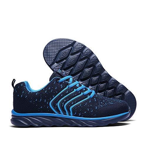 b43b972e2271e XIDISO Mens Running Shoes Women Lightweight Slip On Sneakers for Men Cross  Training Athletic Gym Tennis Sports Walking Shoe Blue