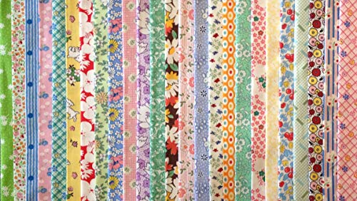 100 1930's Reproduction Fabric Fat Eighths Feedsack Quilt Shop Quality No Dups 100% Cotton by Assorted Quilt Shop Brands (Image #4)