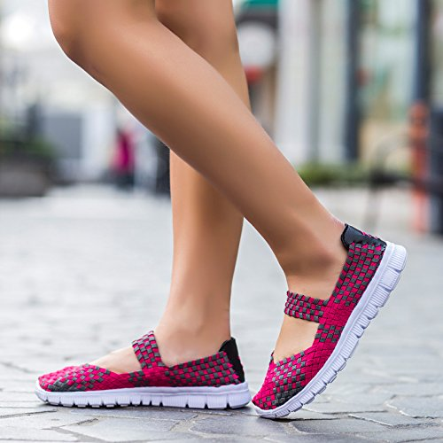 Casual Shoes Woven amp;L Rose Sports S Flat Water Breathable Shoes Shoes Women 8YUxqvCa