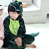 DREAMOWL Kids Dinosaur Animal Costume-Childrens Plush Pajamas Attach Shoes paw