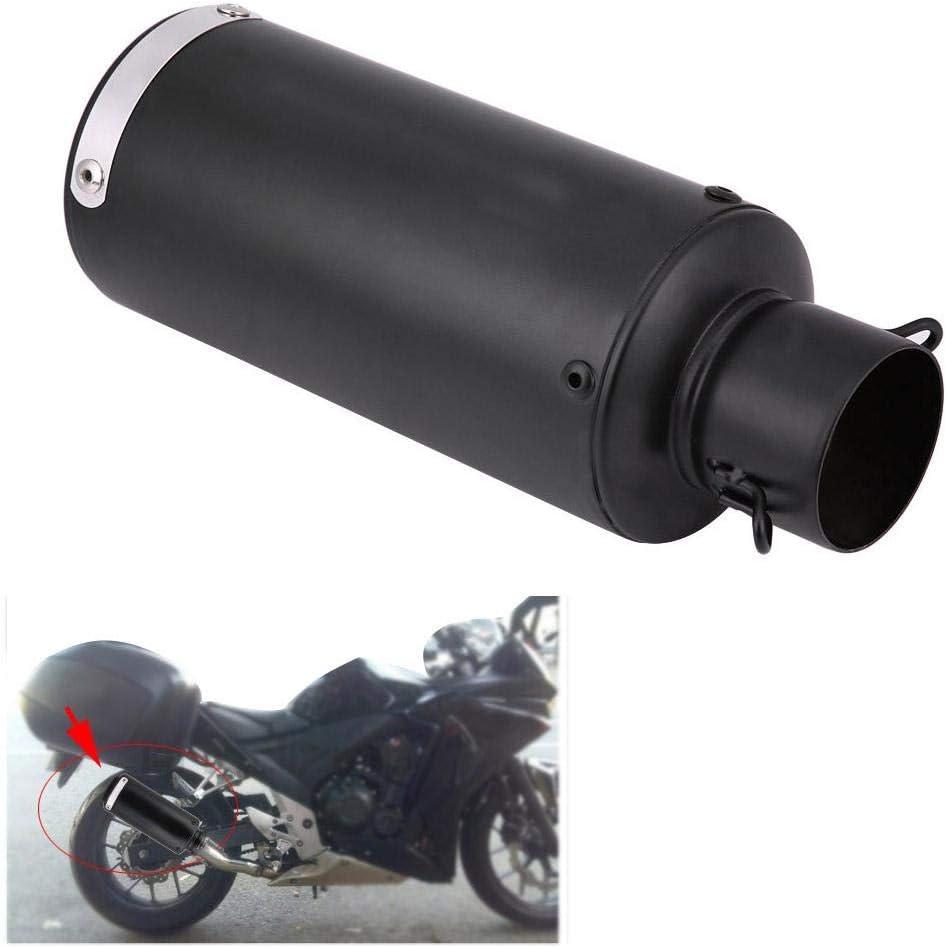 Akozon silenziatore di scarico marmitta universale per moto in acciaio inossidabile Mezzo blu Tubo di scarico per moto