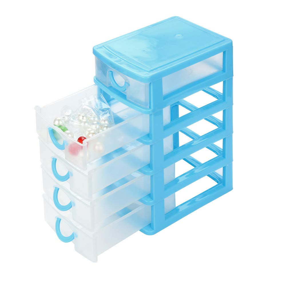 AMOFINY Fashion Baby Toys New Plastic Mini Desktop Drawer Jewelry Necklace Makeup Case Home Storage Organizer