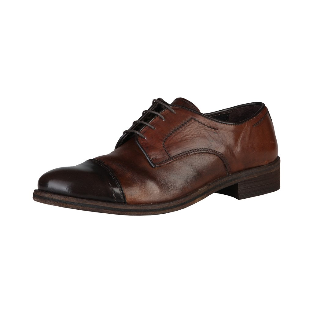 TALLA 43 EU. Made In Italia Shoes, Zapatos de Cordones Derby para Hombre