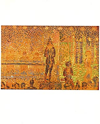 """1968 Vintage SEURAT /""""STUDY FOR /""""THE SIDE SHOW/""""/"""" COLOR offset Lithograph"""