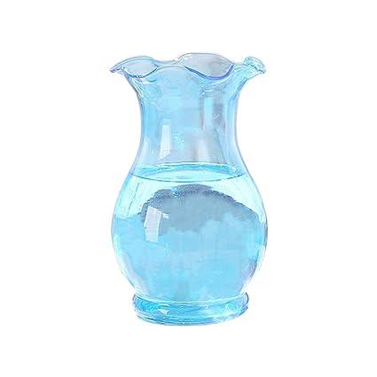 Cupcinu Florero de Vidrio de Color Simple Arreglo de Flores hidropónico Botella de Vidrio pequeño Florero