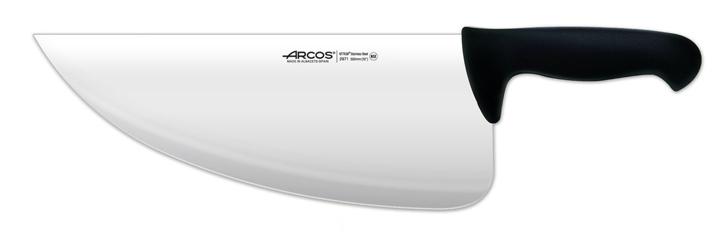 Arcos 12-Inch 310 mm 500 gm 2900 Range Cleaver, Black