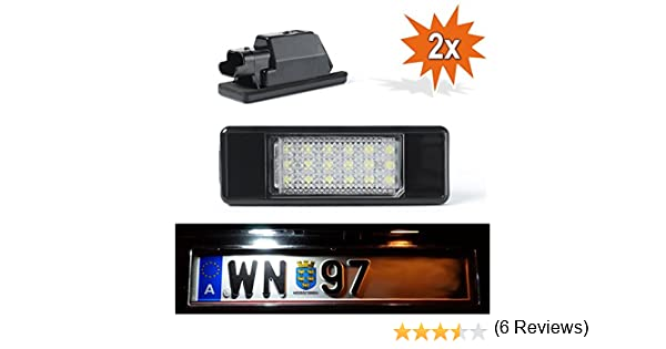LED P307 LED NUMBERPLATE con certificado E xenón: Amazon.es: Coche y moto