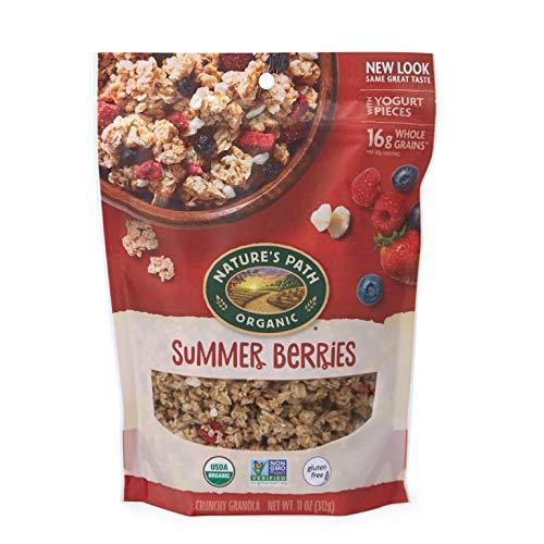 Blueberry Granola Honey - Nature's Path Honey Almond Granola, Healthy, Organic & Gluten Free, 11 Ounce Pouch