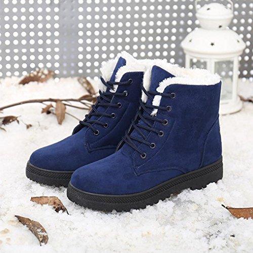 Deesee (tm) Classic Donna Scarpe Calde Stivali Da Neve Moda Inverno Stivaletti Blu