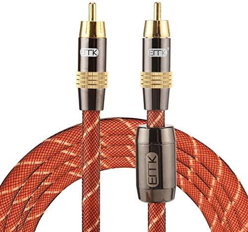 HD AVアクセサリライン EMK TZ/A 2メートルOD8.0mmゴールドメッキメタルヘッドRCA RCAプラグデジタル同軸接続ケーブルオーディオ/ビデオRCAケーブルへの.
