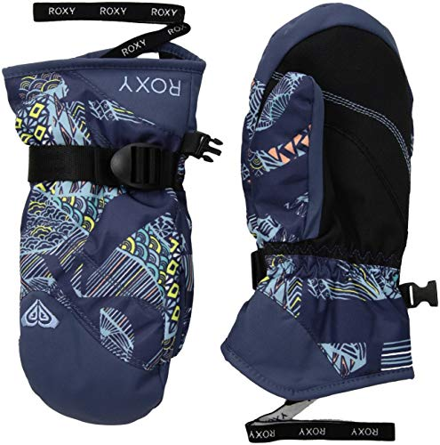 Roxy Little Jetty Girl Mitt Snow Gloves, Crown Blue_FREESPACE, ()