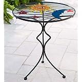Stars, Moon and Sun Metal and Glass Side Table