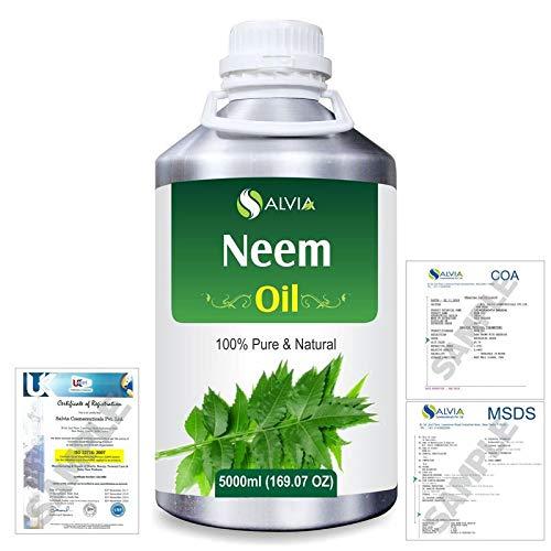 Neem (Azadirachta indica) Pure Natural Oil 5000ml/169 fl. oz. Express Shipping