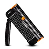 AIEX A4 Paper Cutter Portable Guillotine Paper Trimmer with Automatic Security Safeguard for Home and Office Papers Cards Labels Coupons Photos Cutting (Black)