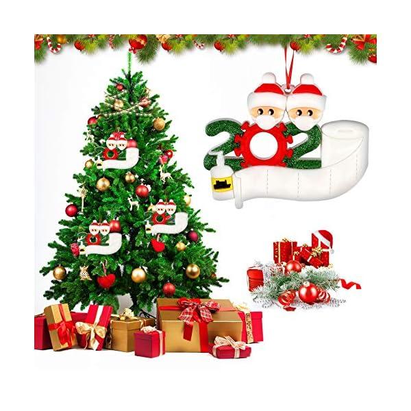 Sopravvissuto Famiglia Ornamento 2020 Quarantena Personalizzato Ornamenti di Natale Decorazioni per L'Albero di Natale Ornamenti Famiglia di Albero di Natale Ornamento Home Decor Regali di Natale 7 spesavip