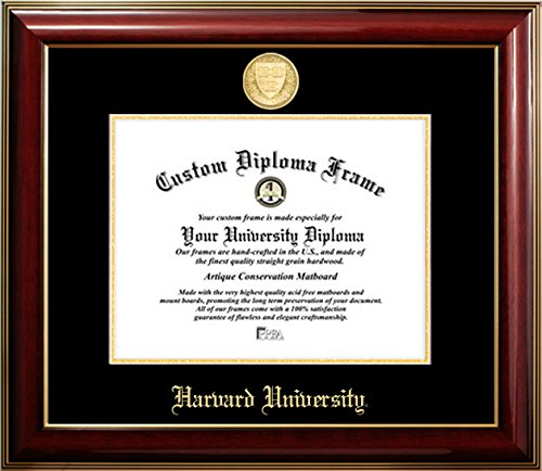 Harvard University 22K Gold Medallion Diploma Frame (11 X 14) by Diploma Frame Deals