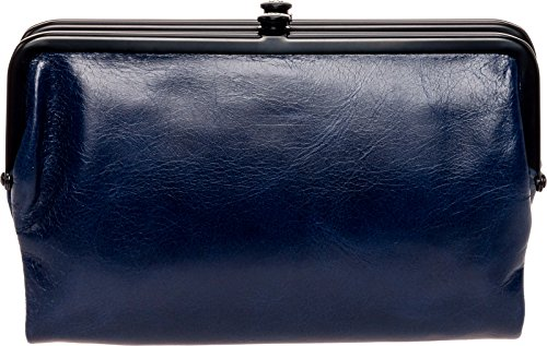 Hobo Womens Glory Vintage Leather Clutch Wallet (Indigo) by HOBO
