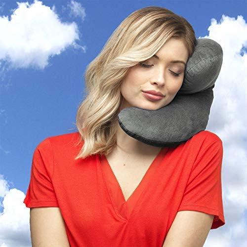 Amazon.com: J Pillow.Almohada de viaje con apoyo para cabeza ...