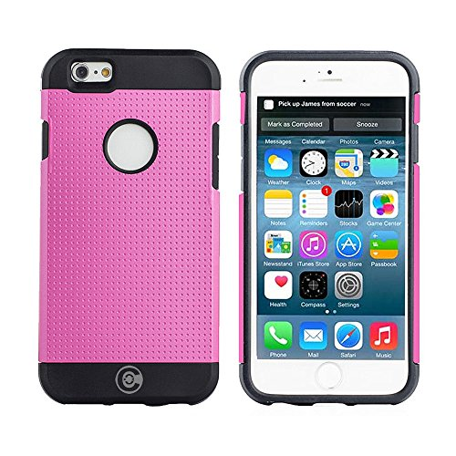 iPhone 6S Case, iPhone 6 Cases By Cable And Case - Apple iPhone6S [Non-Slip] [HEAVY DUTY] [Exact-Fit] Pink iPhone 6 (4.7) Case SlimNEW [Micro Dots] [Thin Fit] [Armor Back] Non Slip Matte Hard Case - Armor (80s Neon Fashion)