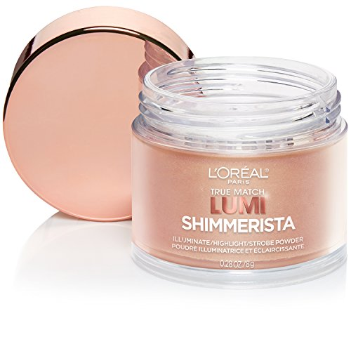 L'Oreal Paris Cosmetics True Match Lumi Shimmerista Highlighting Powder, Sunlight 0.28 oz (Gold Shimmer Powder Brush)