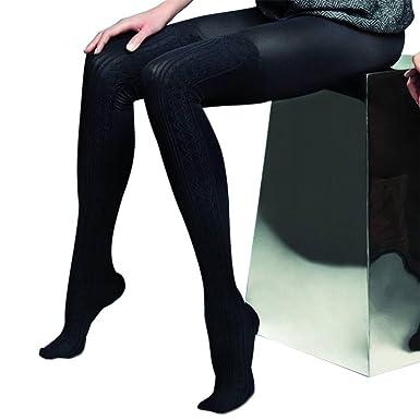 1e0b21a5dbd Black Thick Opaque Mock Suspender Tights Imitating  Stockings quot Negrita quot  80 Denier ...