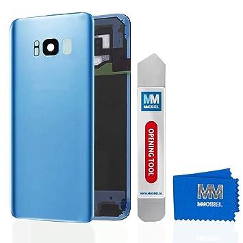 499217deba7 MMOBIEL Tapa Trasera Vidrio p/batería + Lente cámara Compatible con Samsung  Galaxy S8 Plus G955 6.2 pulg (Azul Coral): Amazon.es: Electrónica
