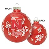 Home Comforts University of Nebraska Cornhuskers Glass Christmas Ornament Holiday Decoration