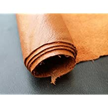 REED LEATHER HIDES - COW SKINS VARIOUS COLORS & SIZES (12 X 24 Inches 2 Square Foot, ORANGE)
