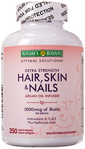 Nature's Bounty Extra Strength Hair Skin Nails, 250 Count - Nature Bounty Skin Hair Nails