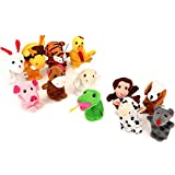 Image of Finger Puppets Finger toys,Danibos 12pcs Velvet Small Animal Baby Stories Helper, Christmas Finger Puppets for Baby, Kids (finger toy) (finger toy(12pcs animal))