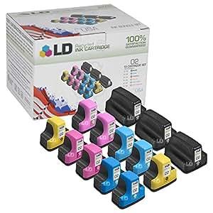 LD © Remanufactured Bulk Set of 13 Replacement Ink Cartridges for Hewlett Packard (HP 02)