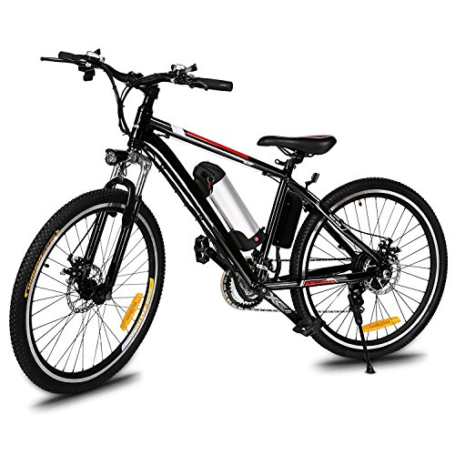 Bifast 26 Inch Power Plus Electric Mountain Bike for Adults, Unfolding E Bike Road Bike with Removable Lithium-Ion Battery, Battery Charger, LED Light Review