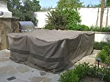 "Patio Set Square Cover 116""x116"" Fits Patio Round/square Table, Center hole for umbrella."