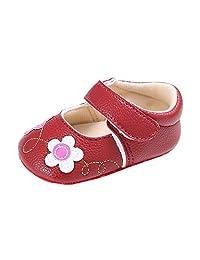 Newborn Infant Baby Girls Crib Shoes Toddler Soft Sole Anti-slip Flower Sneakers