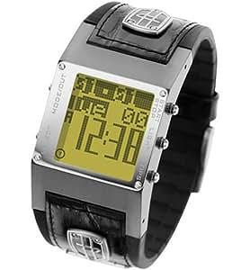 Diesel DZ7073 - Reloj digital de cuarzo unisex con correa de piel, color negro