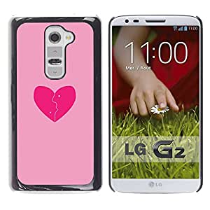 Paccase / SLIM PC / Aliminium Casa Carcasa Funda Case Cover - Love Pink - LG G2 D800 D802 D802TA D803 VS980 LS980