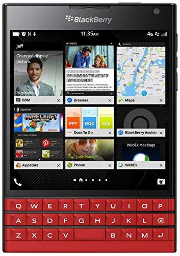 BlackBerry Passport SQW100-1 Unlocked GSM 4G LTE Phone w/ 3-Row Keyboard - Red