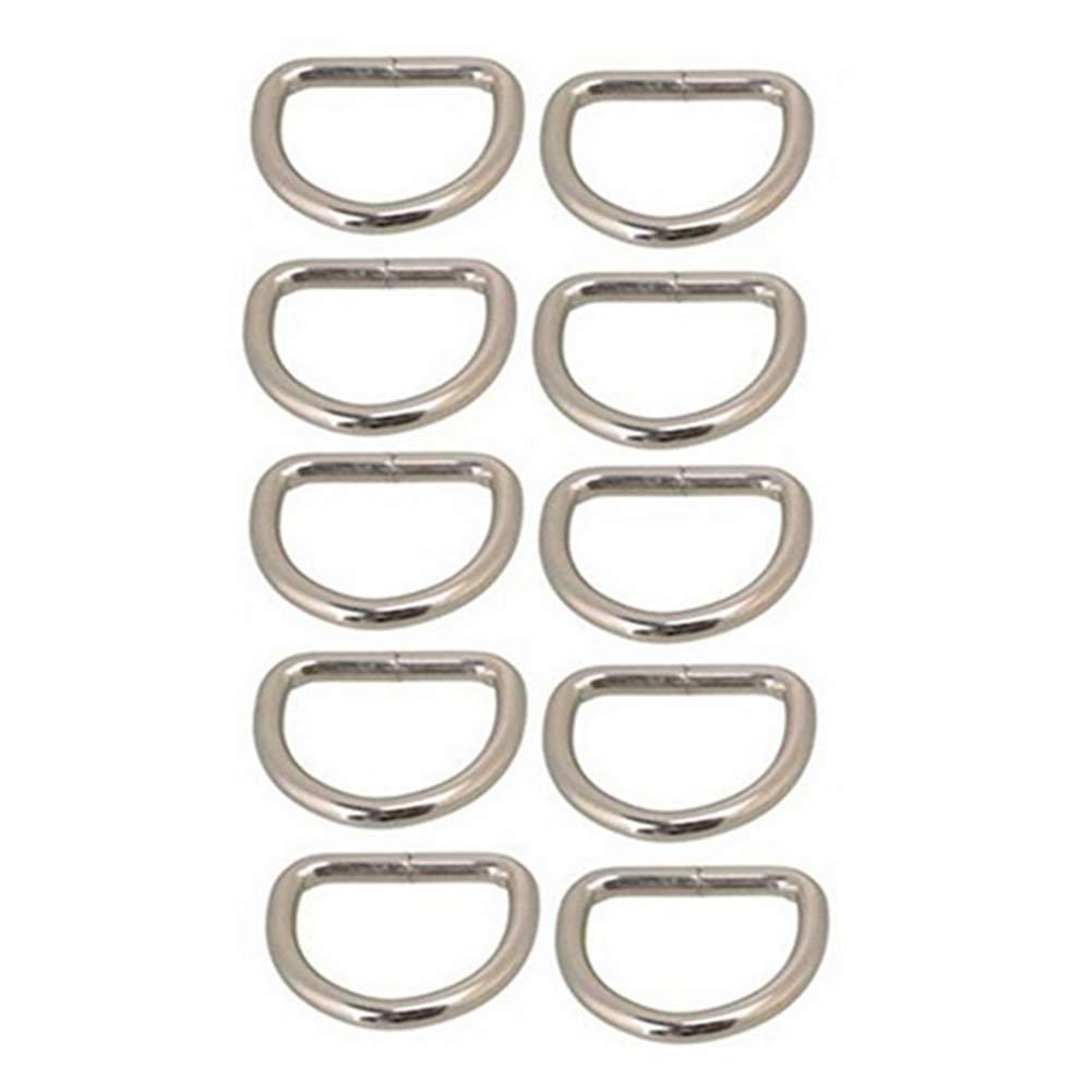 25 mm Argent Trifycore 10 PCS Bouton Anneaux m/étalliques pour Les Bandes D Sacs /à Main Porte-Monnaie Poign/ées Belting Leathercarft Accessoires