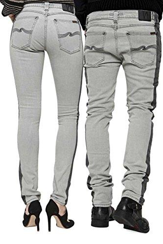 Jeans Slim Leg Gris Nudie High Kai HYpqq6