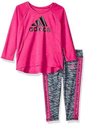 adidas Baby Girls Long Sleeve Top and Legging Set