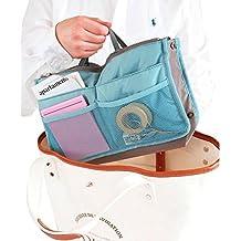 World Pride Nylon Handbag Insert Comestic Gadget Purse Organizer (Blue) by WPBS